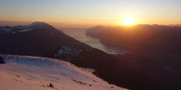 tramonto dal Rif.Marchetti, poco sotto la cima del M.Stivo