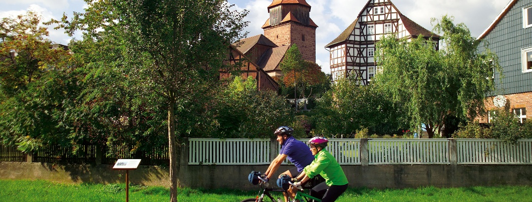 Radfahrer in Bischhausen