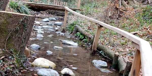 Der Weg führt durchs Wasser