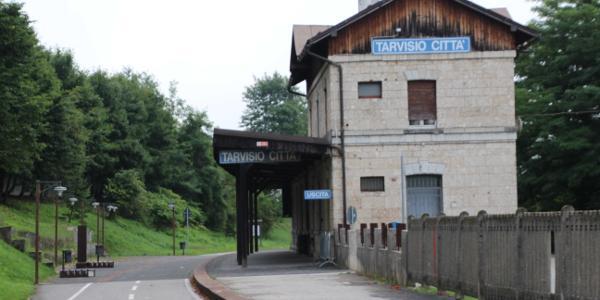 Start am alten Bahnhof von Tarvisio