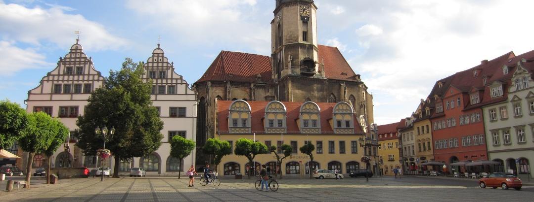 Marktplatz von Naumburg (Aug. 2013)