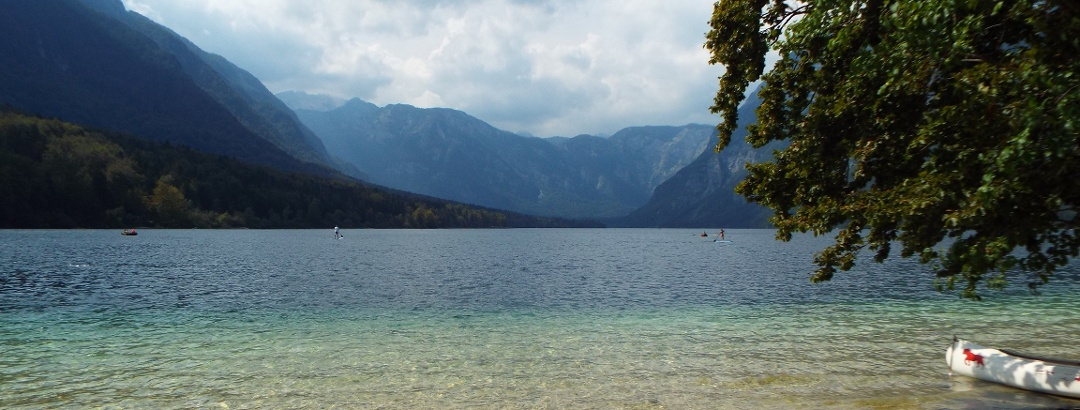 East shore of Lake Bohinj in the middle of Triglav National Park