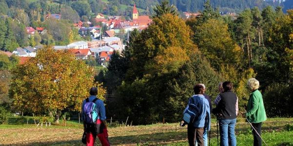 Wanderer im Herbst