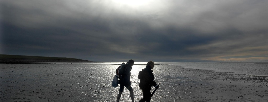 Unterwegs bei der Insel Pellworm