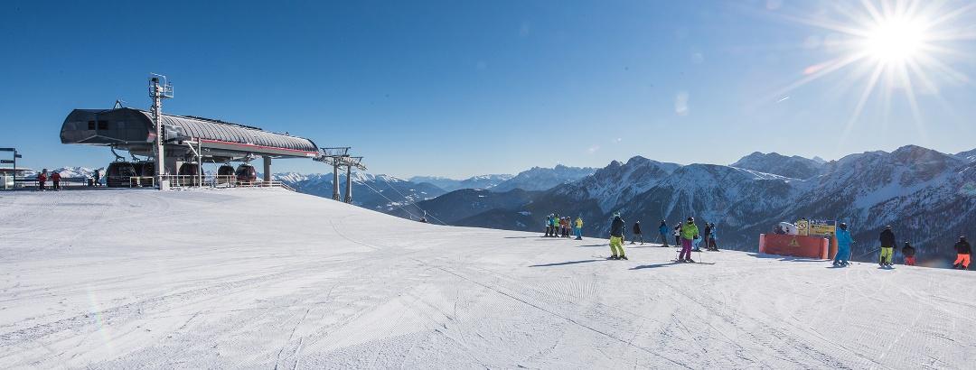 Skifahren auf dem Kronplatz
