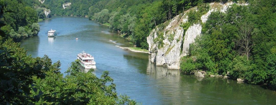 Blick in die Weltenburger Enge, Donaudurchbruch im Altmühltal