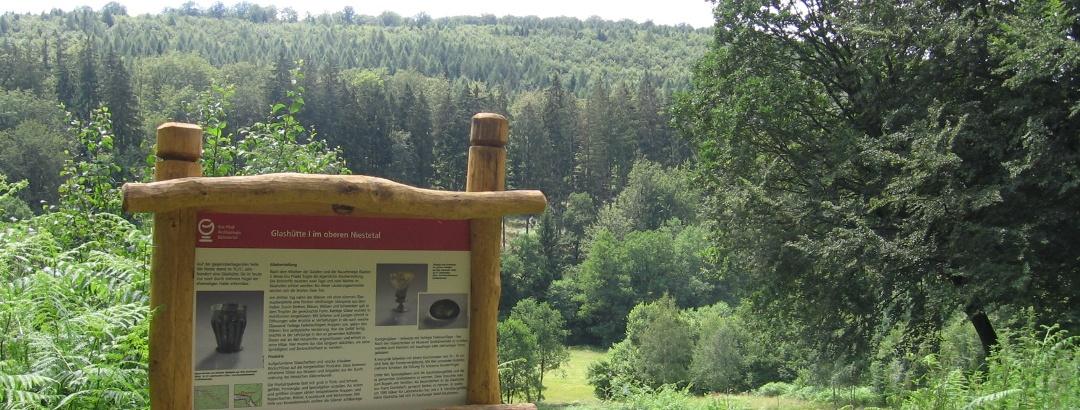 Informationstafel des Eco Pfades