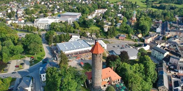 Der Schlossturm von oben