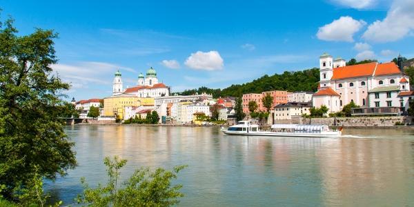 Die Altstadt von Passau mit dem Inn