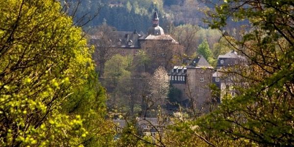 Blick zum Oberen Schloss aus Richtung Tiergarten