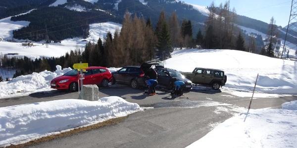 Parkbucht, ca. 200 m vor dem Gehöft Rohrmoosalm.
