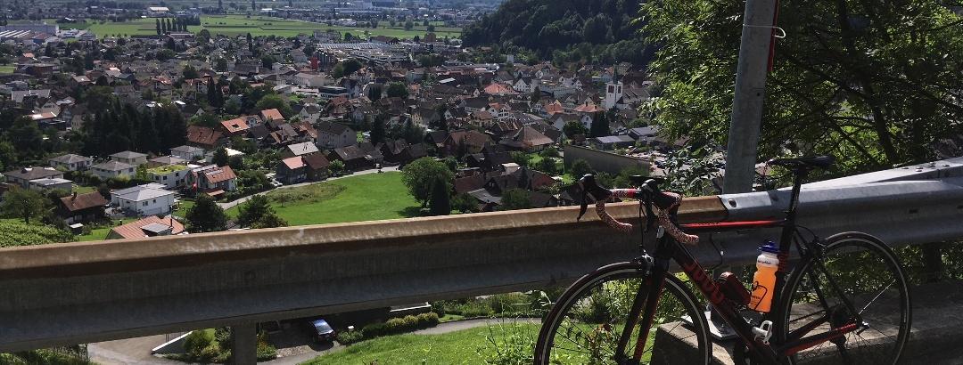 Oberhalb von Berneck (CH)