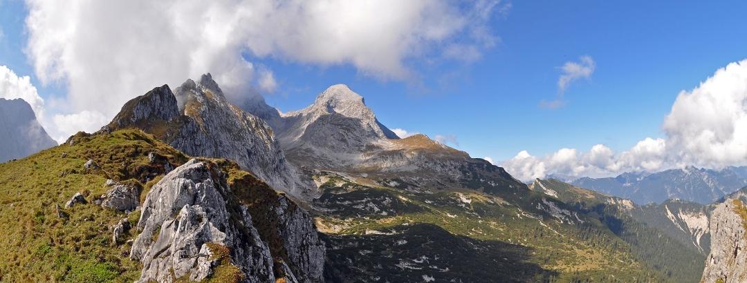 Blick vom Stuibenkopf Richtung Alpspitze