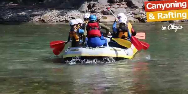 Familien Rafting Allgäu