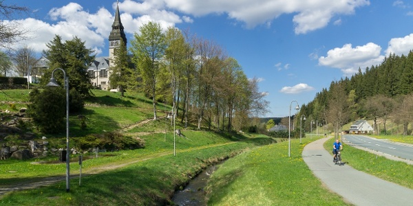 Radweg von Klingenthal nach Tannenbergsthal