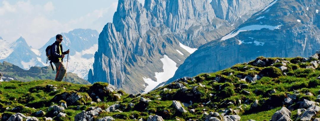 Auf der Alp Sigel mit Blick zu den Kreuzbergen