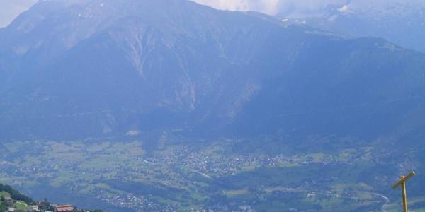Ausblick von Mund in Richtung Brig - Naters - Termen - Ried-Brig