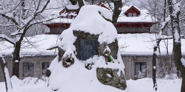Pamätník Téryho za turistickým domom baróna Eötvösa