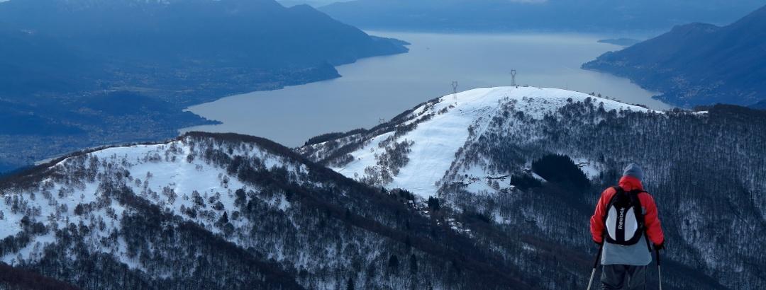 Blick vom Covreto auf den Lago Maggiore
