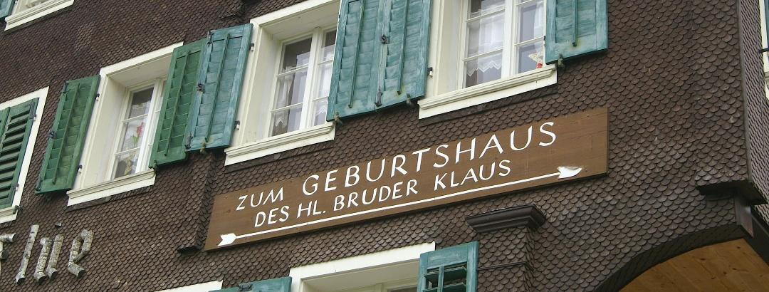 Pilgerziel: Geburtshaus des Bruder Klaus.