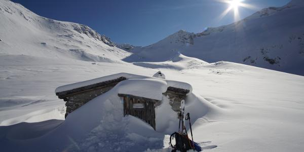 Winterraum der Richterhütte