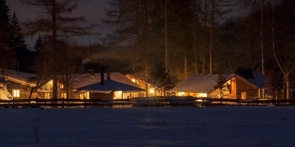 Hiebammen Hütte bei Brilon im Winter
