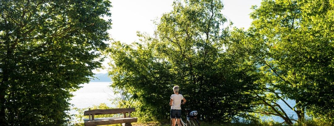 Radfahrer am Rursee