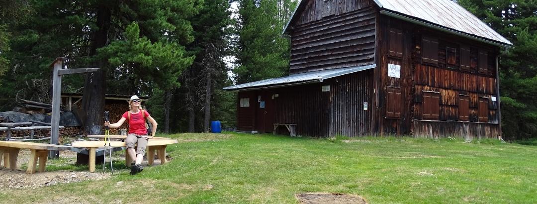 Rast bei der Esebeckhütte am Kreischberg