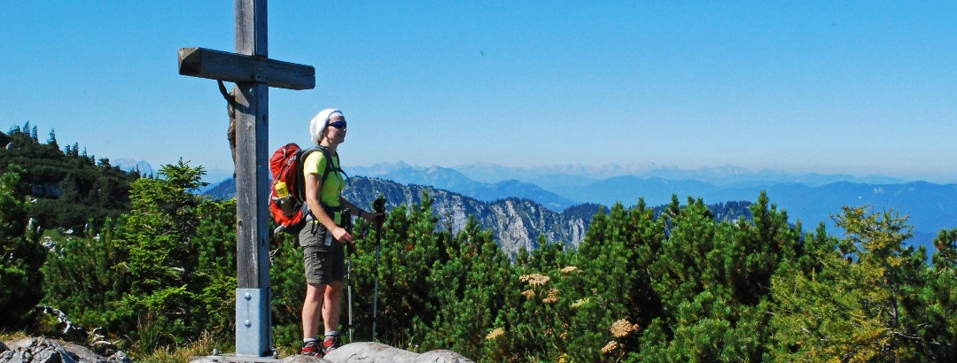 Beim Gipfelkreuz auf der Scheibe