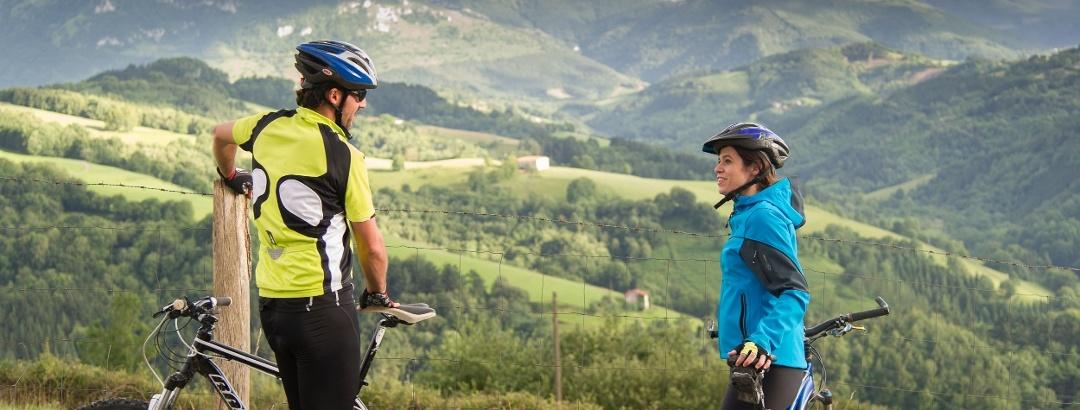Mountainbiker auf der Tour