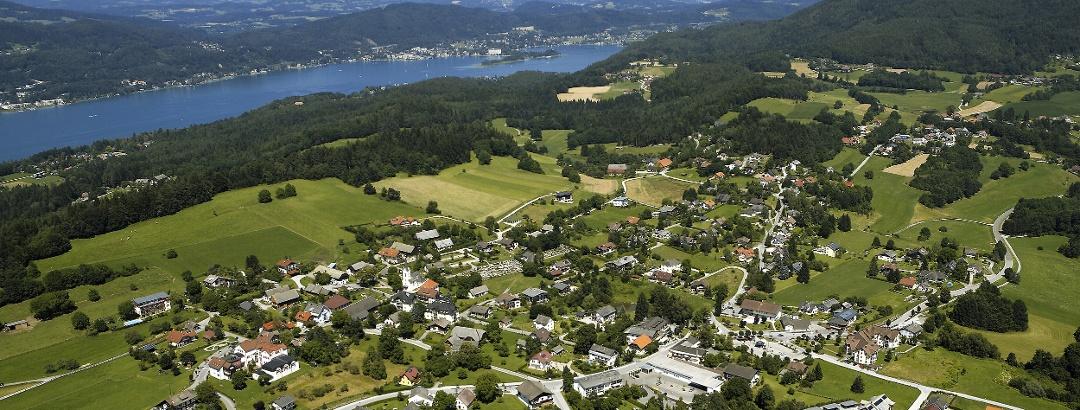 Gemeindegebiet von Schiefling am See mit Blick nach Nordosten