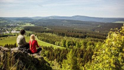 Blick vom Bärenstein auf den Erzgebirgskamm