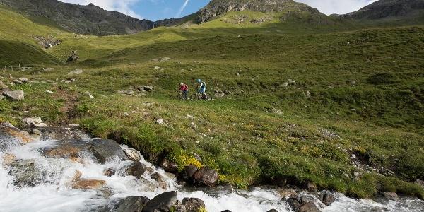 biking in Val da Fain