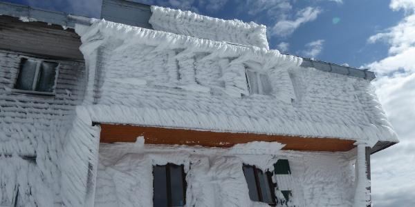 Reichensteinhütte, herbstlicher Wintereinbruch