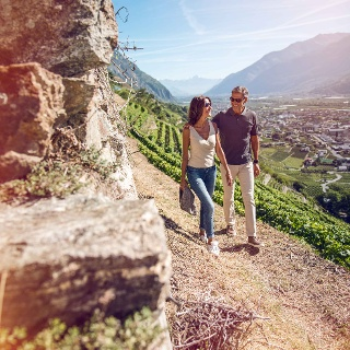 Hikers on the Wine trail in Fully