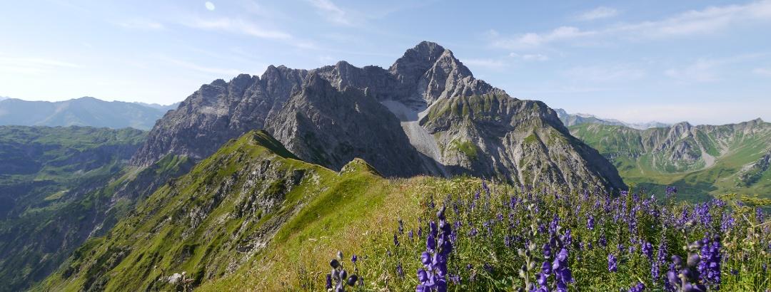 Aussicht auf den Kleinen und den Großen Widderstein