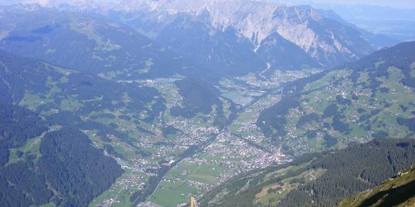 Bartholomäberg, Schruns, Tschagguns, Latschau und Vandans von oben