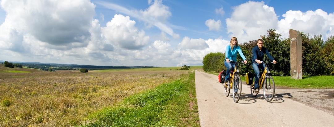 Saarland Radweg-Steine an der Grenze