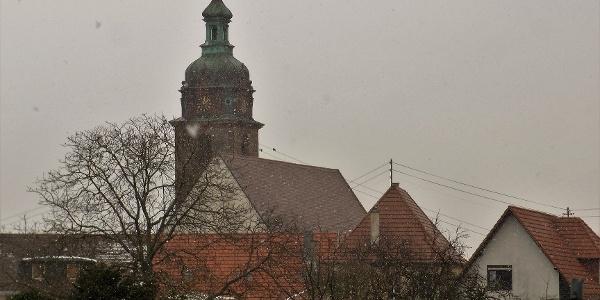 Schneefall beim Start in Hainfeld