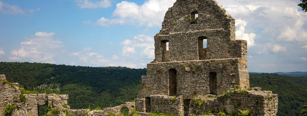 Die Burgruine Hohenurach