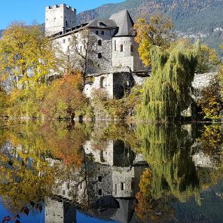 Burg mit Teich
