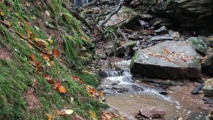 Ein kleiner Wasserfall in der Margarethenschlucht