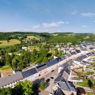 Zöblitz - Markt in Richtung Sorgau