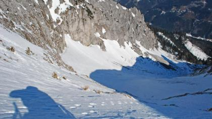 Der Weitengrund bei geringer Schneelage