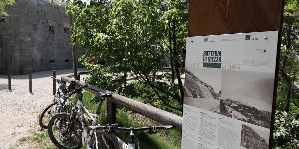L'area del forte Batteria di Mezzo sul monte Brione
