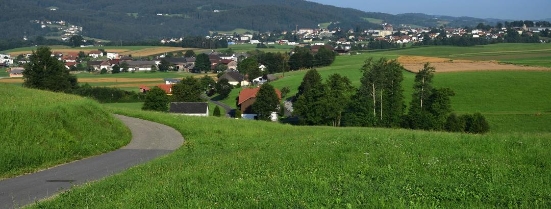 Blick von Wurmbrand nach Aigen/Schlägl