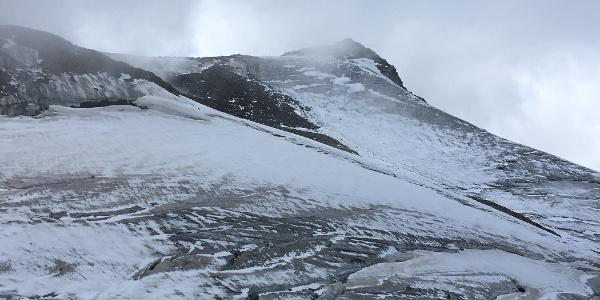 Gletscher am Gipfelgrat am Wilden Freiger