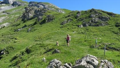 Aufsteig zur Alp Jetz