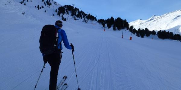 Aufstieg im Bereich Skigebiet im Bereich der Hohe Mut Bahn