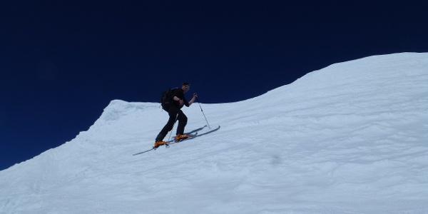 Die letzten Meter zum Gipfel des Schrankarkopfs 3254m